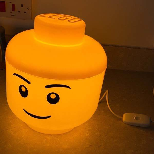 The Cute LED Mood Light Built with LEGO Storage Container  Gadgetsin