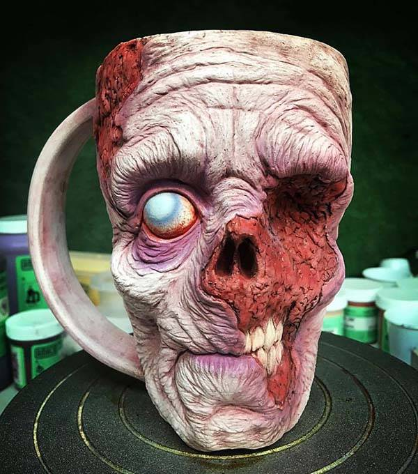 The Zombie Mugs Show off Realistic and Creepy Detailing