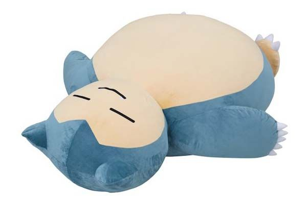 snorlax bean bag chair office covers giant pokemon cushion is the cutest bed for kids | gadgetsin