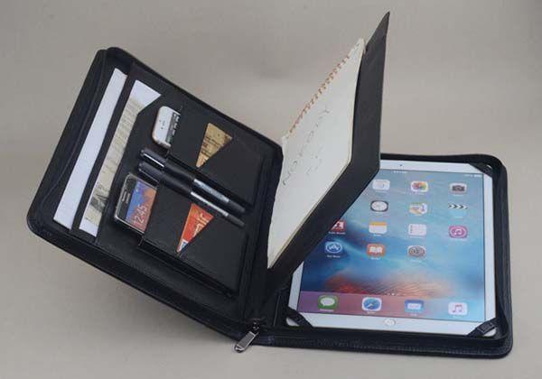 Handmade Leather PortfolioStyle iPad Pro Case  Gadgetsin