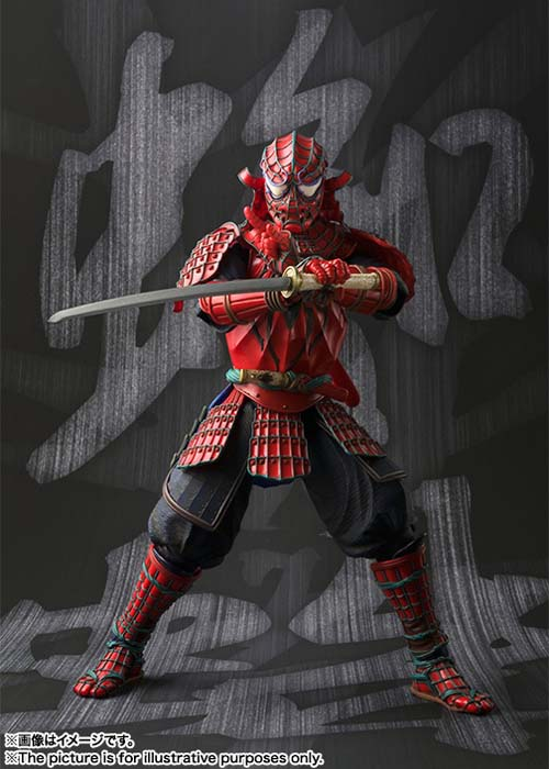 Meisho Manga Realization Samurai SpiderMan Action Figure