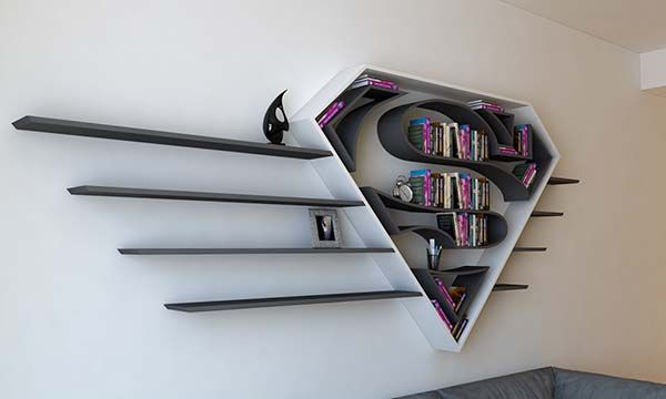 The Concept Bookshelf Inspired By Supermans Logo Gadgetsin