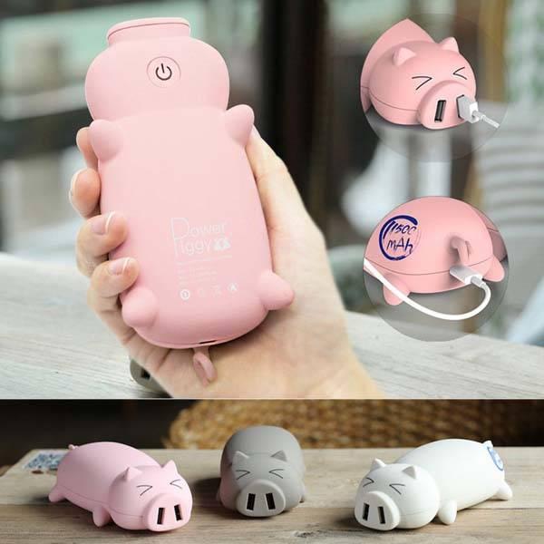 The Little Piggy is a Cute Power Bank  Gadgetsin