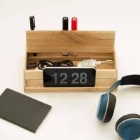 Handmade Modern Nordic Wooden Desk Organizer | Gadgetsin