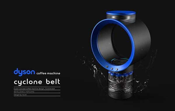 The Concept Cyclone Belt Coffee Machine Inspired by Dysons Design Symbols  Gadgetsin