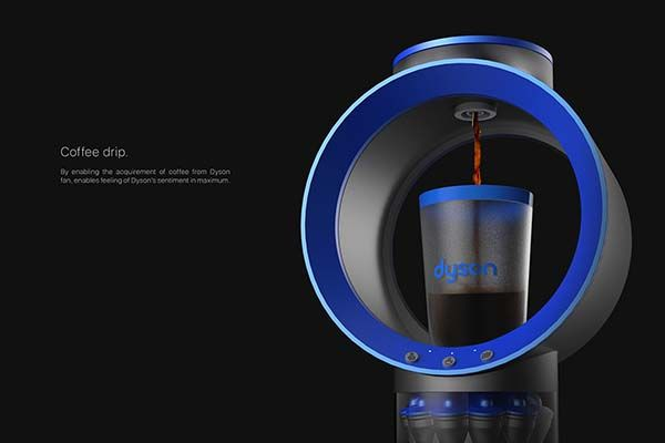 The Concept Cyclone Belt Coffee Machine Inspired by Dyson