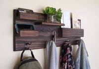 The Handmade Entryway Wall Organizer with Coat and Key ...