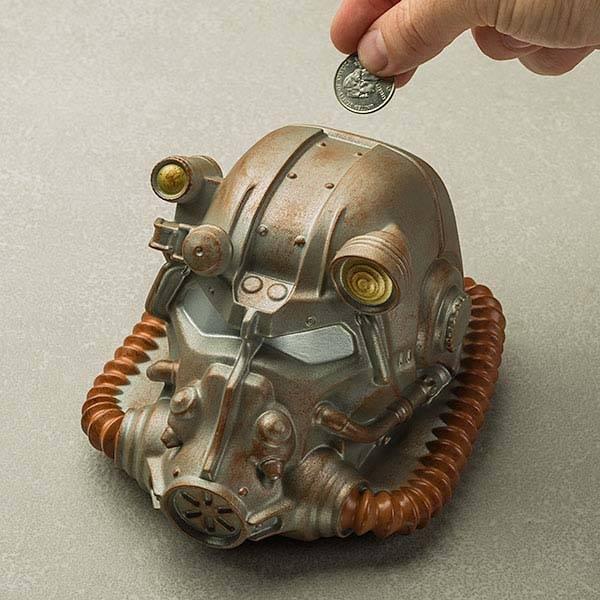 Fallout Power Helmet Coin Bank  Gadgetsin