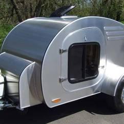 Cool Kitchen Stuff Granite Counter Tops Oregon Trail'r Frontear Teardrop Camping Trailer | Gadgetsin