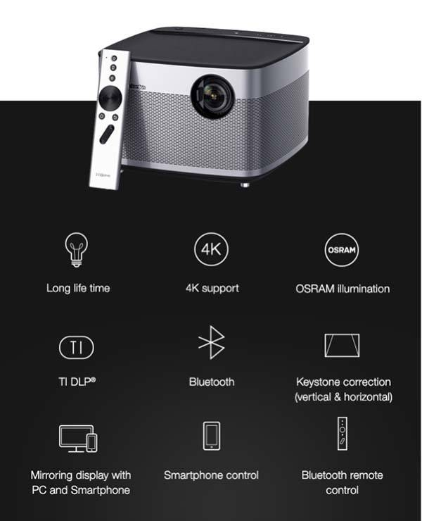 H1 Smart Projector with Builtin Hartman Kardon Stereo