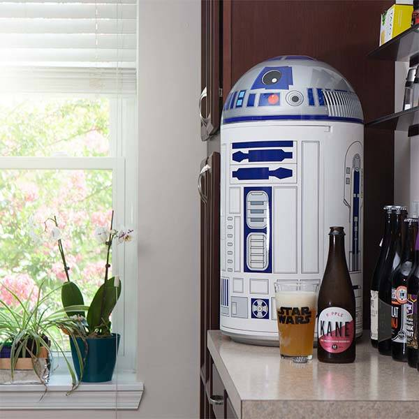 cool kitchen stuff island tops ideas star wars r2-d2 14 liter mini fridge | gadgetsin