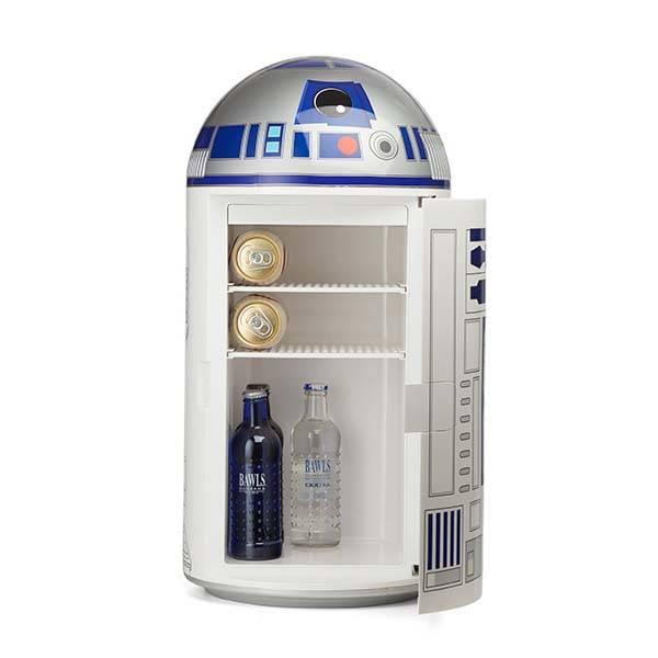 cool kitchen stuff aid microwave star wars r2-d2 14 liter mini fridge | gadgetsin