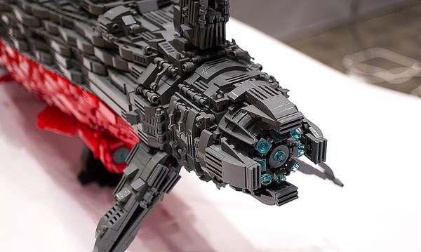 Awesome Fan Made Lego Space Battleship Yamato Gadgetsin