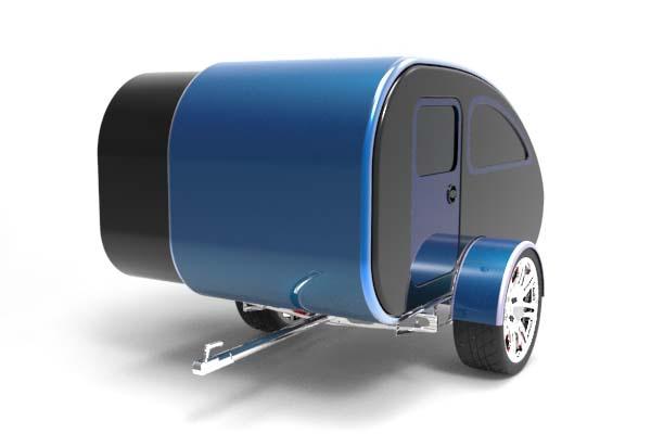 Mini Caravan Expandable Camping Trailer  Gadgetsin
