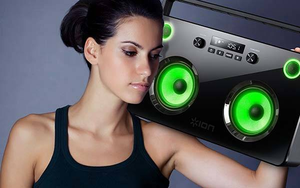 SpectraBoom Bluetooth Boombox with Lightup Speakers