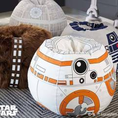 Mini Bean Bag Chair Galvanized Metal Star Wars Chewbacca Furry | Gadgetsin