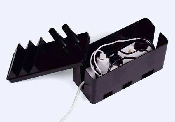 Cable Factory Power Strip Organizer with Charging Station