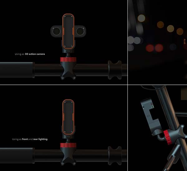 PLUS 3D Action Camera with LED Lighting  Gadgetsin