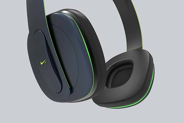 Concept Nike Physical Wireless Headphones with Builtin