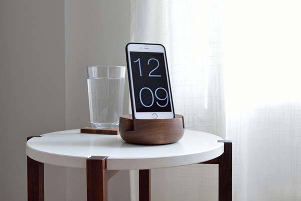 Handmade Wooden Bedside Tablet and Phone Stand  Gadgetsin