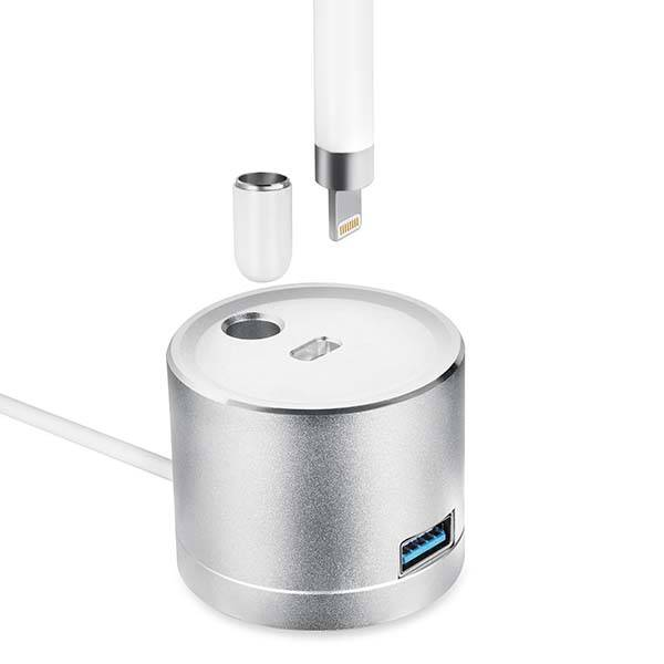 KeyEntre Apple Pencil Charging Dock With Built In Cable