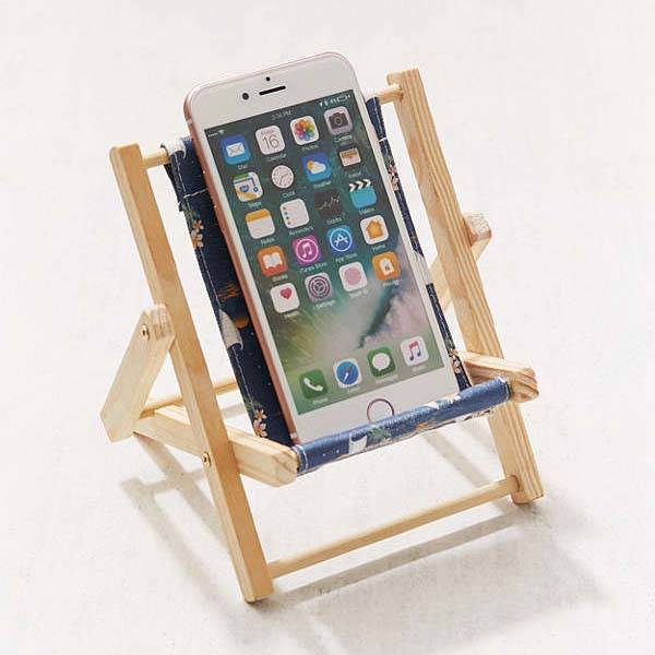 chair stand photos coleman sling target the wooden mini lounge phone | gadgetsin
