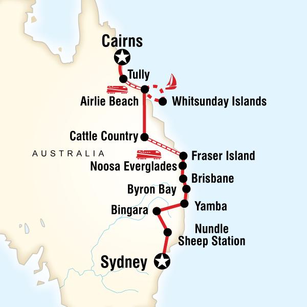 Most Of The CoastSydney To Cairns In Australia Australia