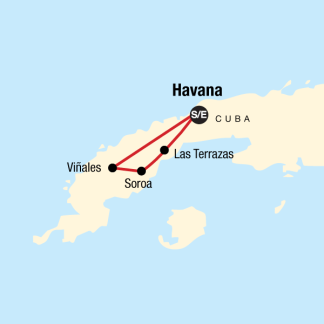 Map of the route for Cuba Libre
