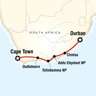 Güney Afrika Turu rotası