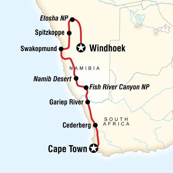 Güney Afrika Namibya Turu