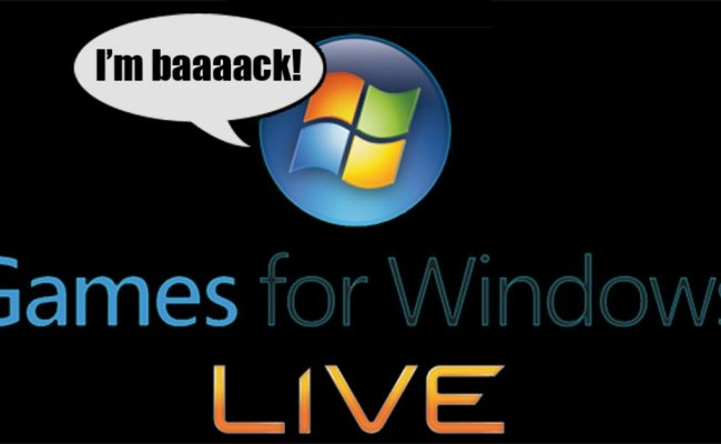 Microsoft Effectively Resurrects Games For Windows Live