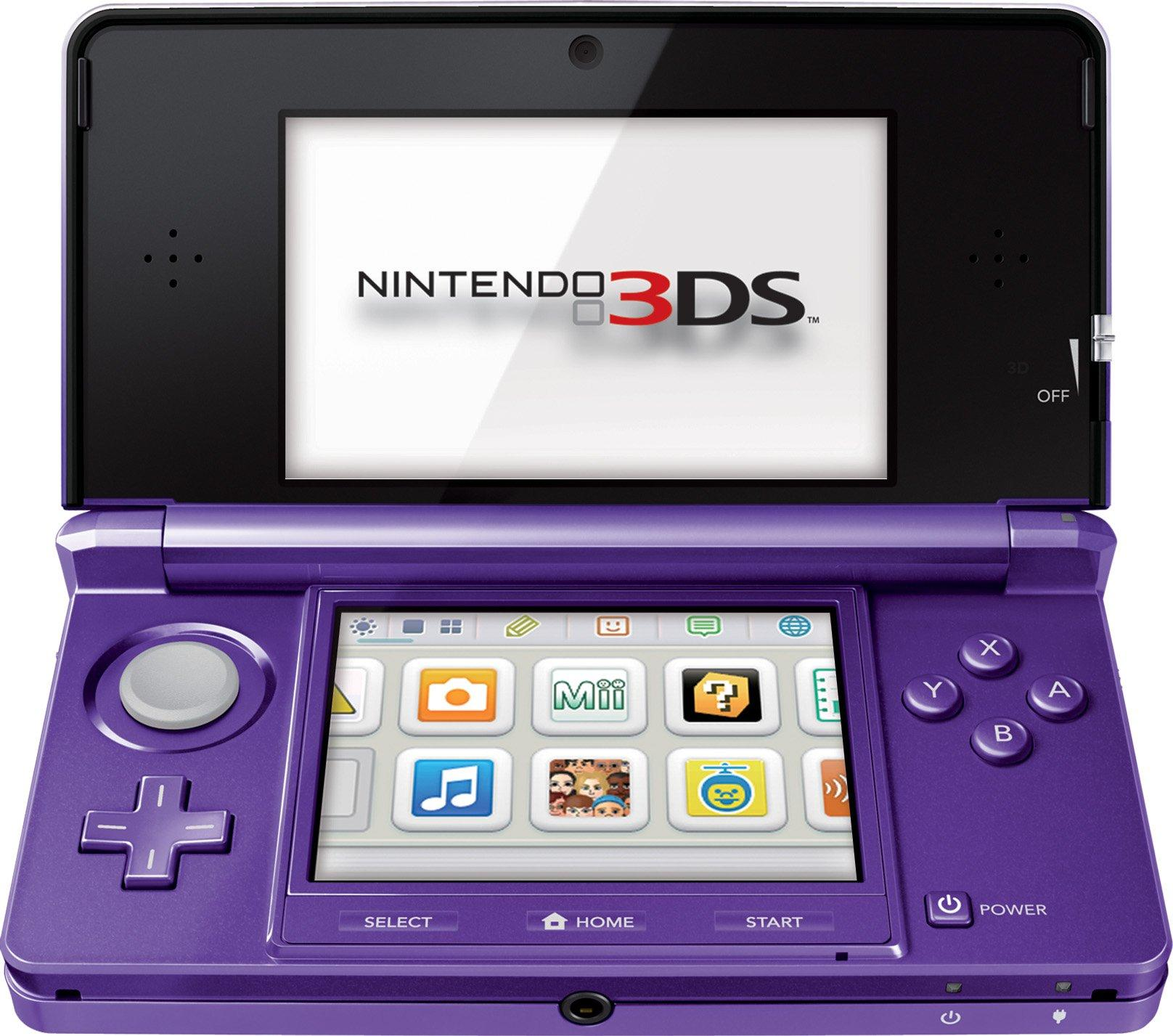 Nintendo 3ds System Purple Nintendo 3ds Gamestop