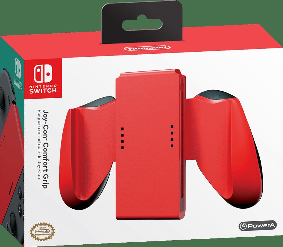 Nintendo Switch Joy Con Comfort Grip Red Nintendo
