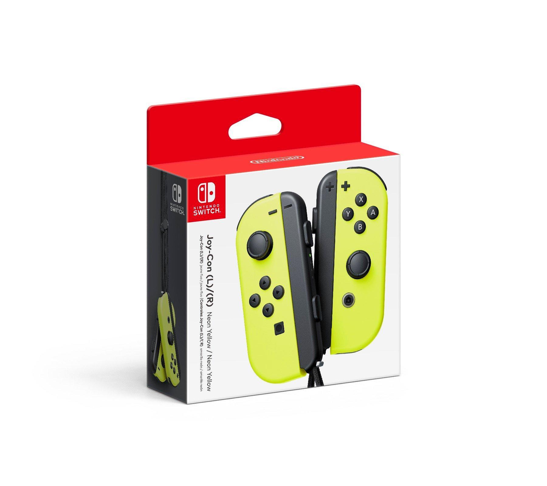 Nintendo Switch Joy Con L R Neon Yellow Nintendo