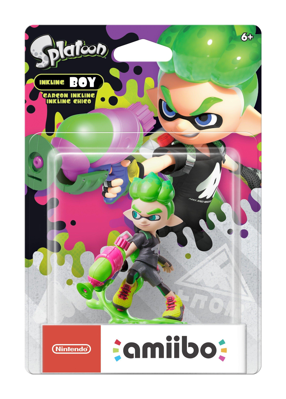 Inkling Boy Neon Green Splatoon 2 Amiibo Figure Gamestop
