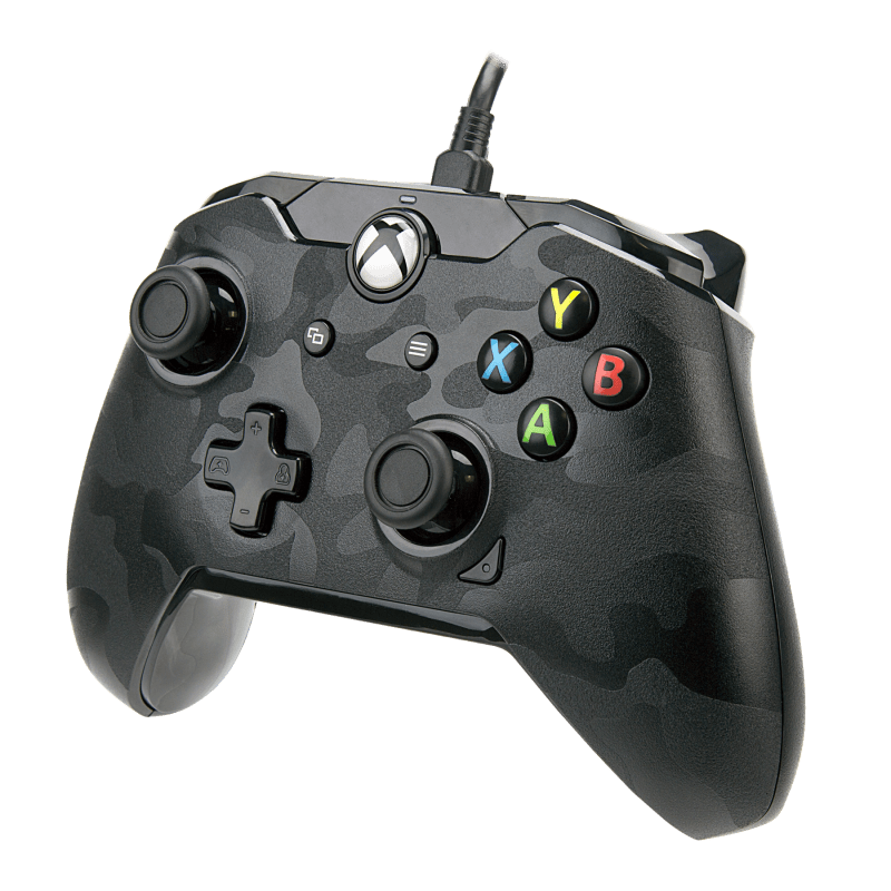 Xbox One Black Camo Wired Controller Xbox One Gamestop