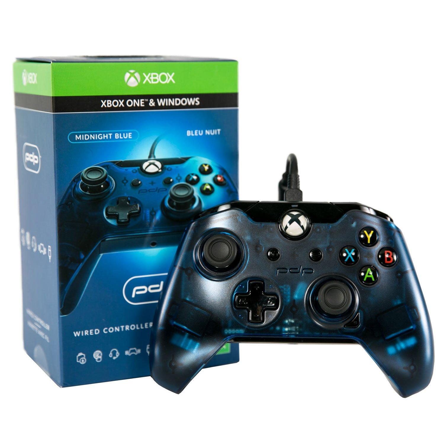 Xbox One Midnight Blue Wired Controller Xbox One Gamestop