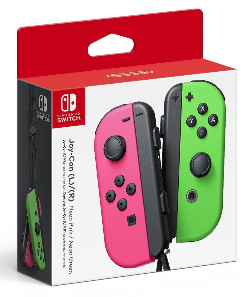 Nintendo Switch Joy Con L R Neon Pink Neon Green