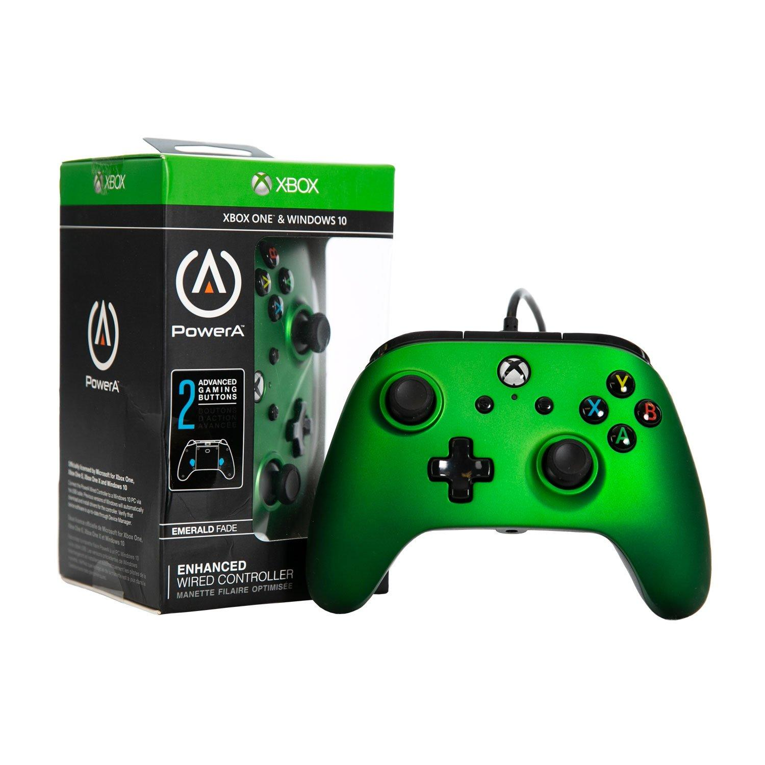 Powera Enhanced Wired Controller For Xbox One Emerald