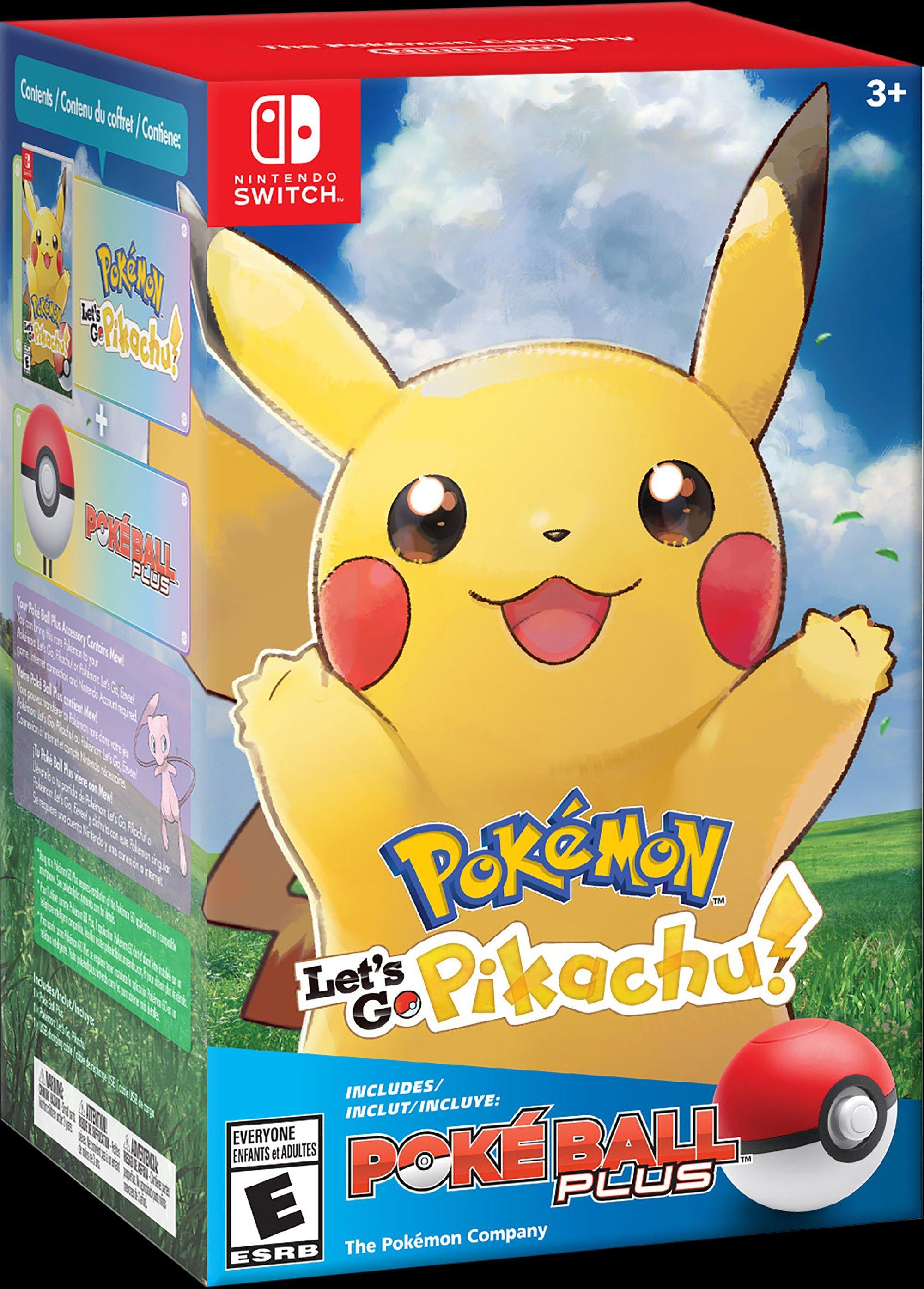 Pokemon Let S Go Pikachu Poke Ball Plus Pack