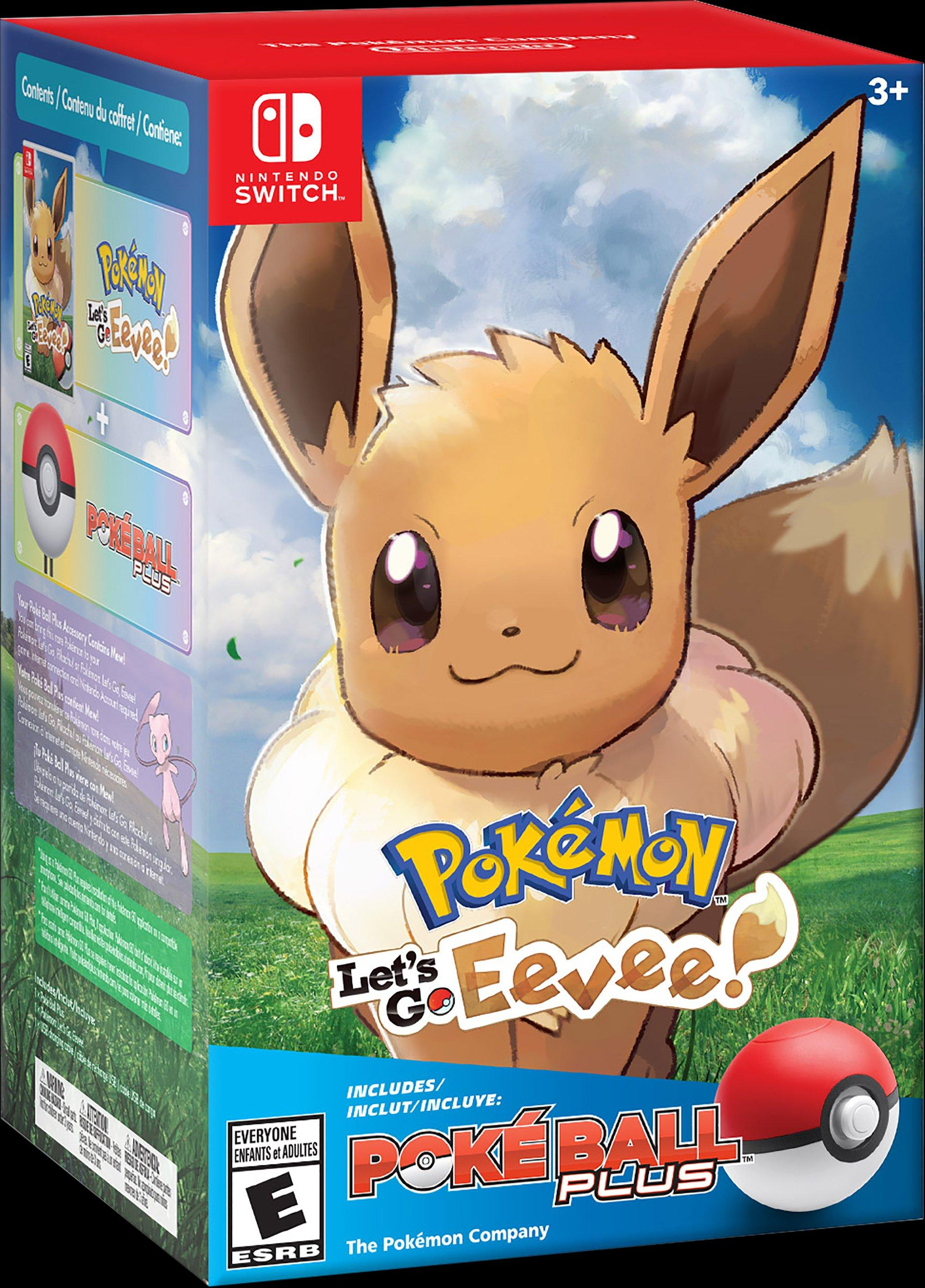Pokemon Let S Go Eevee Poke Ball Plus Pack Nintendo