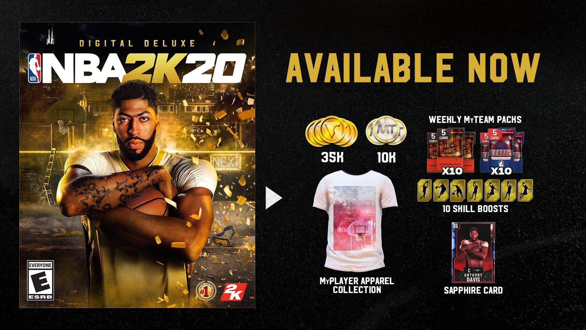 Nba 2k20 Digital Deluxe Edition Pc Gamestop