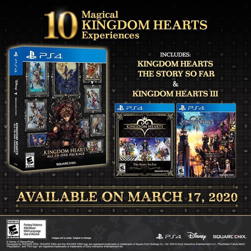 Kingdom Hearts All In One Package Playstation 4 Gamestop