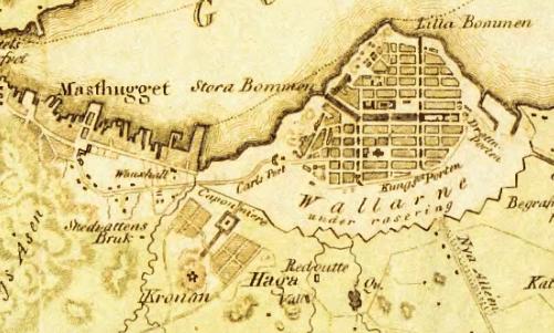 Masthugget, Haga och Göteborg 1809