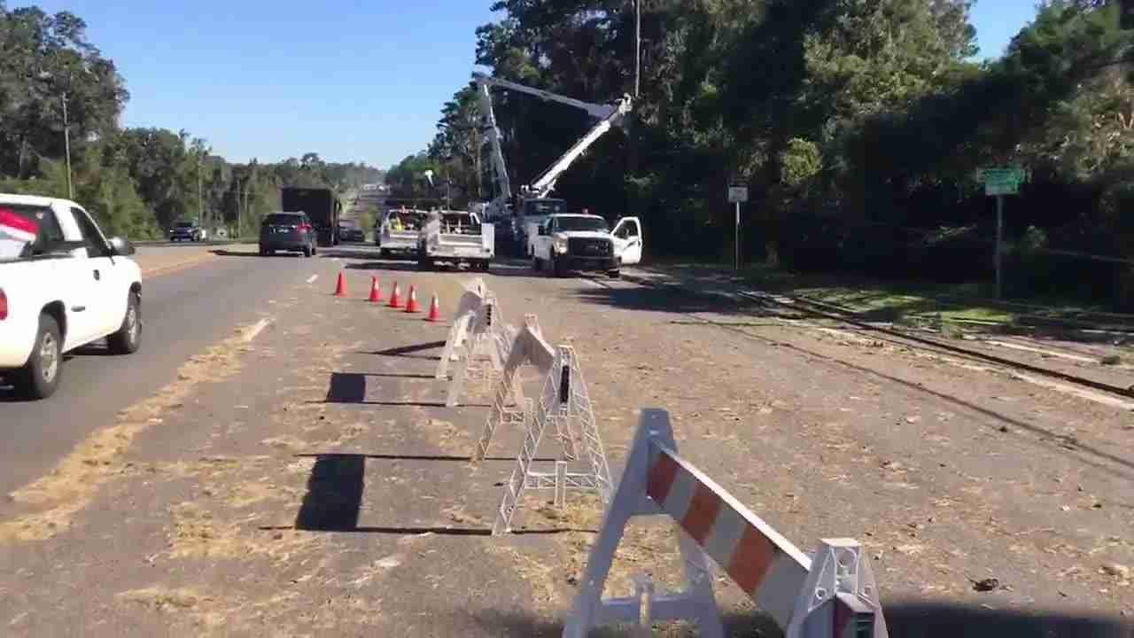 Michael: Line crews repair damage to power poles on ...