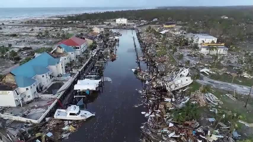 Drone video of devastation left in Mexico Beach