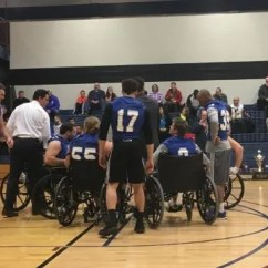 Wheelchair Drake Costco Gravity Chair Grand View Athletes Use Basketball To Highlight A Good Cause
