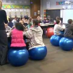 Ball Chairs For Students Hydraulic Salon Chair Won T Go Down Desk Replaced With Exercise Balls