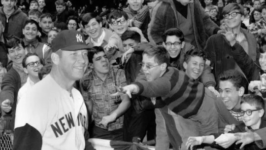 Image result for fans with mickey mantle