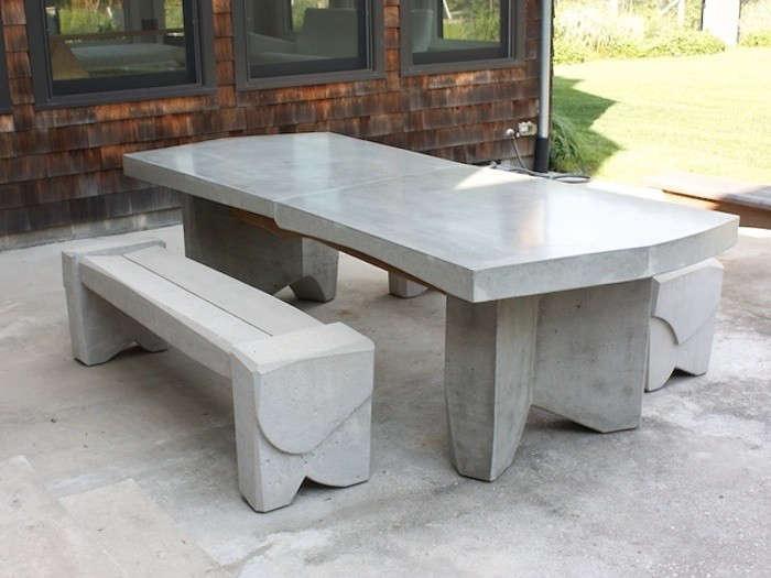 easy pieces concrete outdoor furniture